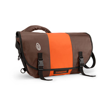 coated canvas mahogany brown / ballistic nylon rust orange / coated canvas mahogany brown