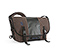Classic Messenger Bag - canvas dark brown / laminated fabric black / canvas dark brown