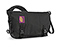Golden Gate Messenger Bag - polyester black / black / black