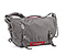D-Lux Laptop Bondage Messenger Bag - ballistic nylon gunmetal / rev red