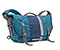 D-Lux Laptop Racing Stripe Messenger Bag - ballistic nylon aloha blue / ballistic nylon dusk blue / ballistic nylon aloha blue