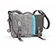 D-Lux Laptop Racing Stripe Messenger Bag - textured grey texture / textured grey texture / ballistic nylon carbon