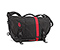 D-Lux Laptop Racing Stripe Messenger Bag - cordura black / black / black