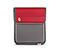 Popup Case for the NEW iPad, iPad2 - 420d nylon gunmetal / revlon red