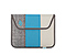 Envelope Sleeve for the NEW iPad, iPad2 - texture grey / ballistic nylon cold blue / coated canvas tusk grey