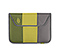 Envelope Sleeve for the NEW iPad, iPad2 - ballistic nylon algae green / sorbet green / gunmetal