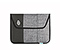 Envelope Sleeve for the NEW iPad, iPad2 - ballistic nylon carbon / textured grey texture / textured grey texture