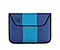 Envelope Sleeve for the NEW iPad, iPad2 - ballistic nylon night blue / pacific / night blue