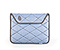Plush Sleeve for the NEW iPad, iPad 2 - texture quartz blue / gunmetal