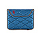 Plush Sleeve for the NEW iPad, iPad 2 - ballistic nylon blue / gunmetal