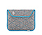 Plush Sleeve for the NEW iPad, iPad 2 - texture grey / cold blue