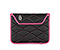 Plush Sleeve for the NEW iPad, iPad 2 - ballistic nylon black / shocking pink