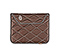 Plush Sleeve for the NEW iPad, iPad 2 - ballistic nylon mahogany brown / tusk grey