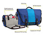 Commute Laptop TSA-Friendly Messenger Bag Diagram