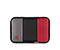 Kindle Fire Slim Sleeve - ballistic nylon black / gunmetal / rev red