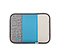 Slim Sleeve for the NEW iPad, iPad2 - texture grey / ballistic nylon cold blue / coated canvas tusk grey