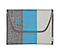 Kickstand Case II for the NEW iPad, iPad 2 - texture grey / ballistic nylon cold blue / coated canvas tusk grey