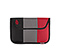 Kindle Fire Envelope Sleeve - ballistic nylon black / gunmetal / rev red