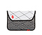 Kindle Fire Plush Sleeve - black polka dots bw polka dots / 630d nylon white