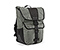 Madrone Cycling Laptop Backpack - recycled pet carbon / nylon black chainlink reflective print / recycled pet carbon