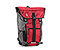 Phoenix Cycling Backpack - 420d nylon gunmetal / revlon red / revlon red