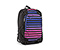 Jones Laptop Backpack - nylon black / polyester cobalt sunset stripe / nylon black