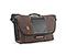 Finder MacBook Laptop Messenger Bag - weathered canvas dark brown / black / dark brown