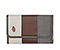 Kindle Fire Professor Jacket - canvas tusk grey / mahogany brown / gunmetal