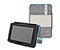 New Kindle Fire Gripster Jacket - texture grey texture / coated canvas cold blue / texture tusk grey