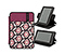New Kindle Fire Twister Jacket - print lola floral / 420d matte mulberry purple / print lola floral