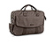 Hudson Laptop Briefcase - waxed canvas dark brown