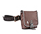 Pork Chop Belt Pack - coated canvas mahogany brown / tusk grey