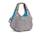 Scrunchie Yoga Tote Bag - nylon grey / cold blue