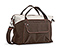 Linda Shoulder Bag - 1200d poly weathered canvas dark brown