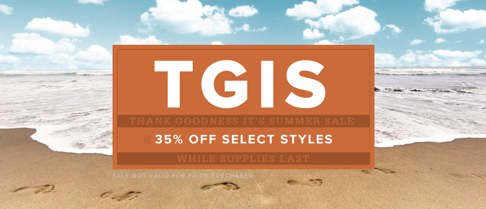 Thank Goodness It's Summer Sale. Up to 35% Off Backpacks & Select Styles.