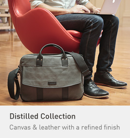 Distilled Collection. Canvas & leather with a refined finish.