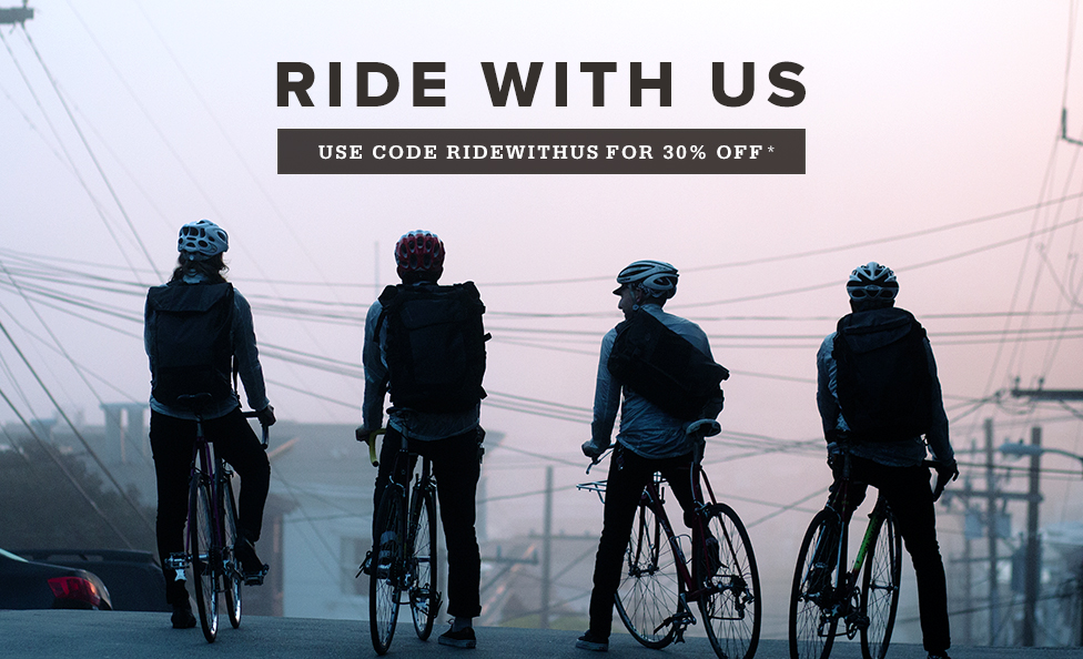 Ride With Us. 30% Off*