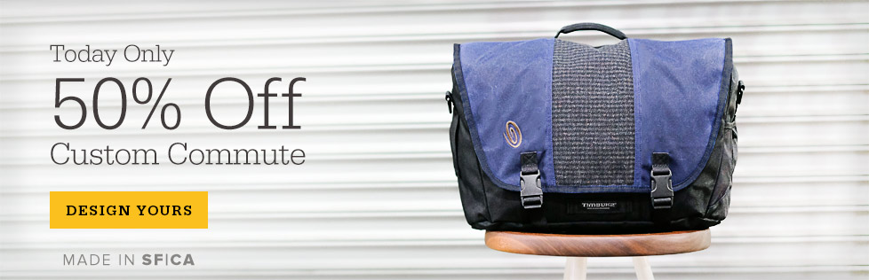 One Day Sale on Custom Commute Messenger