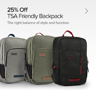 25% Off – TSA Friendly Backpack - The Right Balance of Style and Function