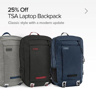 25% Off – TSA Friendly Backpack - Classic Style with a Modern Update