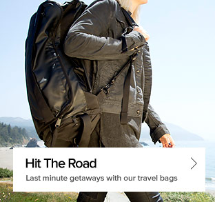 Hit The Road - Last minute getaways with our travel bags