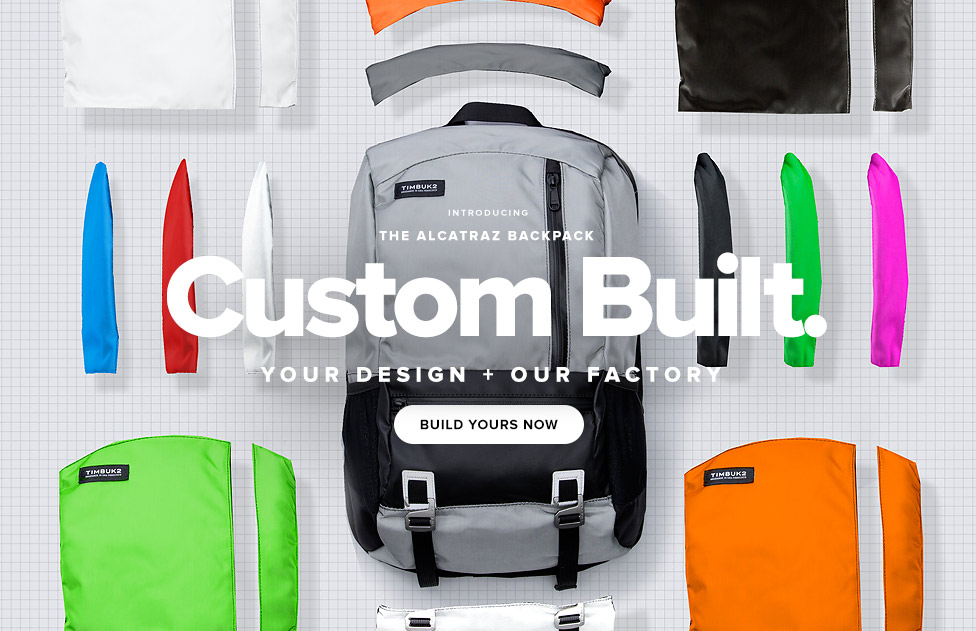 BIntroducing The ALCATRAZ Backpack - Custom Built – Your Design + Our Factory - Build Yours Now