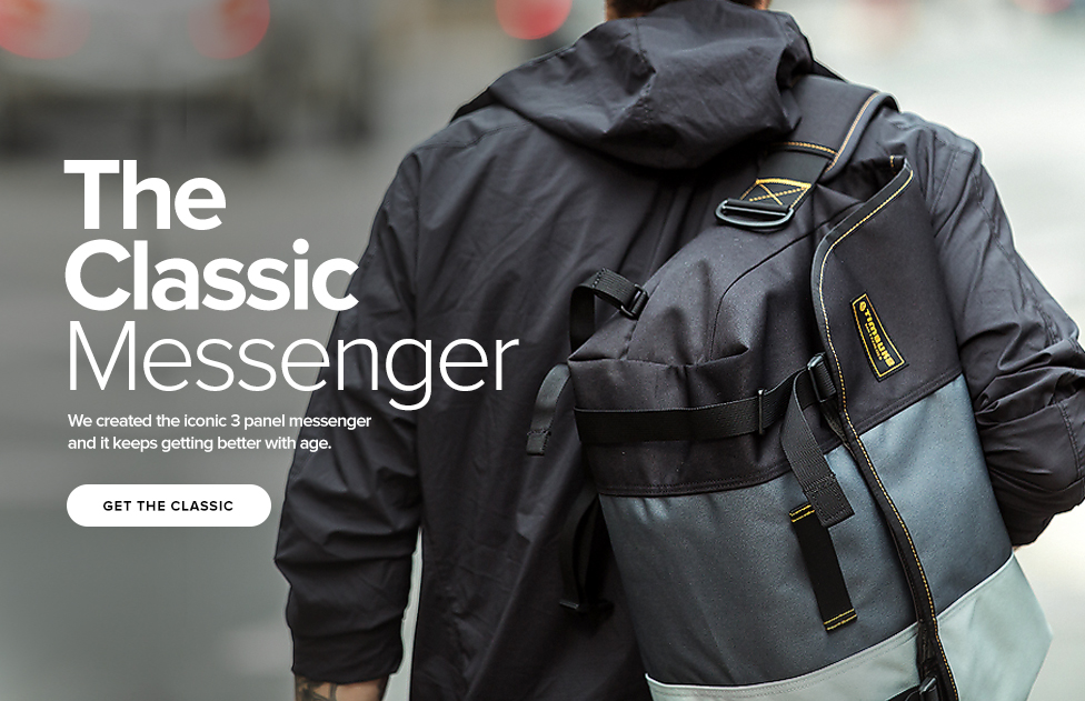 The Classic Messenger - We created the iconic 3 panel messenger and it keeps getting better with age. - Get the Classic