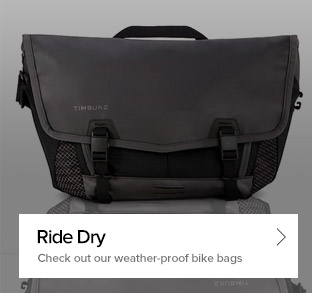 Ride Dry - Check out our weather-proof bike bags