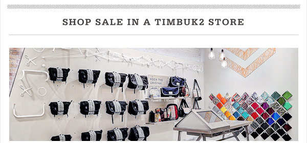 Shop Sale in a Timbuk2 Store