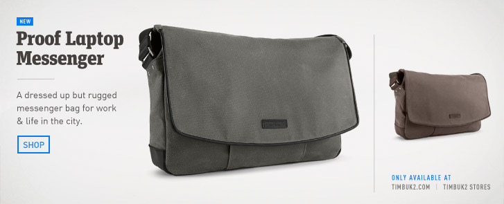 Proof Laptop Messenger Bag