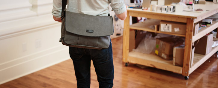 Proof Laptop Messenger Bag in action