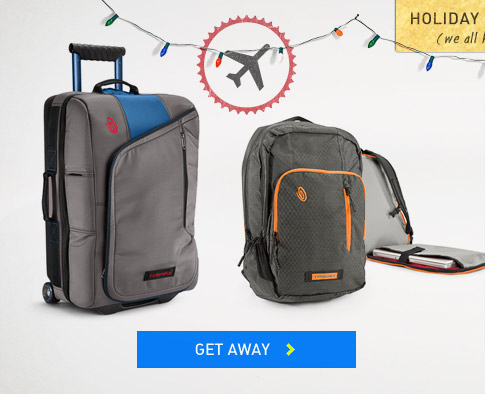 Holiday Baggage: Timbuk2 Luggage, Duffels, Rollers and Travel Bags. Get Away.