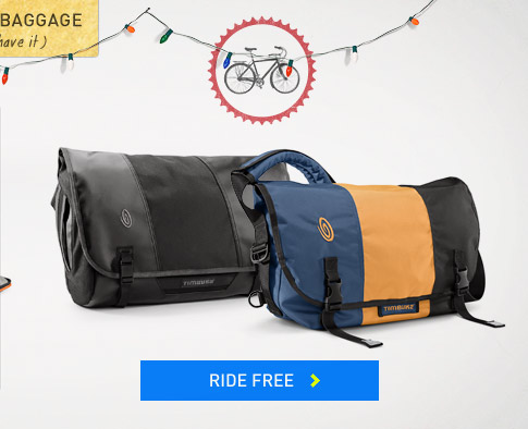 Holiday Baggage: Timbuk2 Bike Messenger Bags, Backpacks and Cycling Panniers. Ride Free.