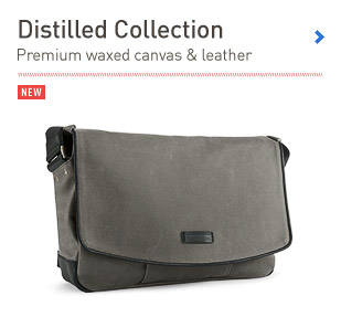 Distilled Collection. Premium products in waxed canvas and leather.